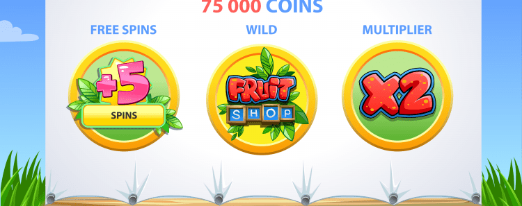 fruit shop slot features